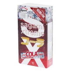 Ароматизированные презервативы Sagami Xtreme Cola - 10 шт.