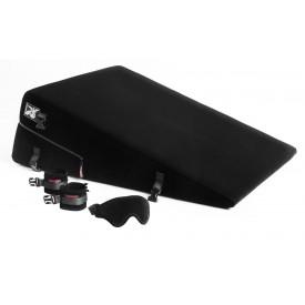 Большая чёрная подушка для секса Liberator Ramp Conversion Kit с креплениями