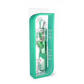 Зелёный вибромассажер с клиторальной стимуляцией Emerald G Rabbit - 26 см.